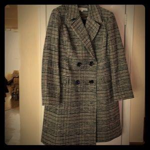 Women's tweed wool coat.